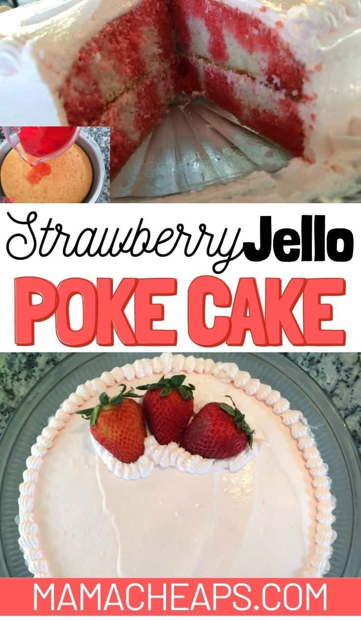 Strawberry Jello Poke Cake PIN