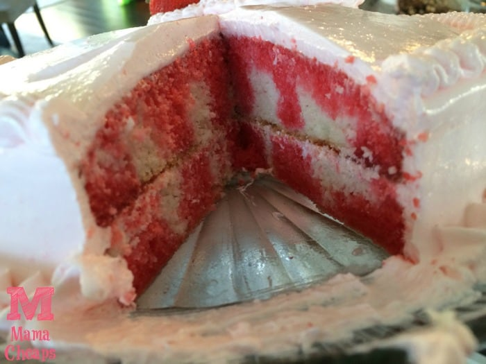 Strawberry Poke Cake cut open