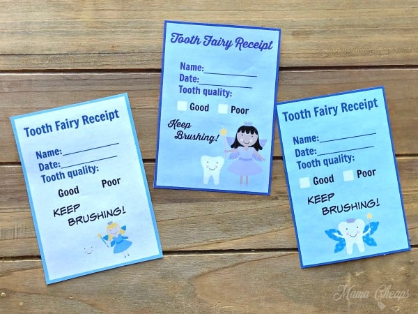 Tooth Fairy Receipts