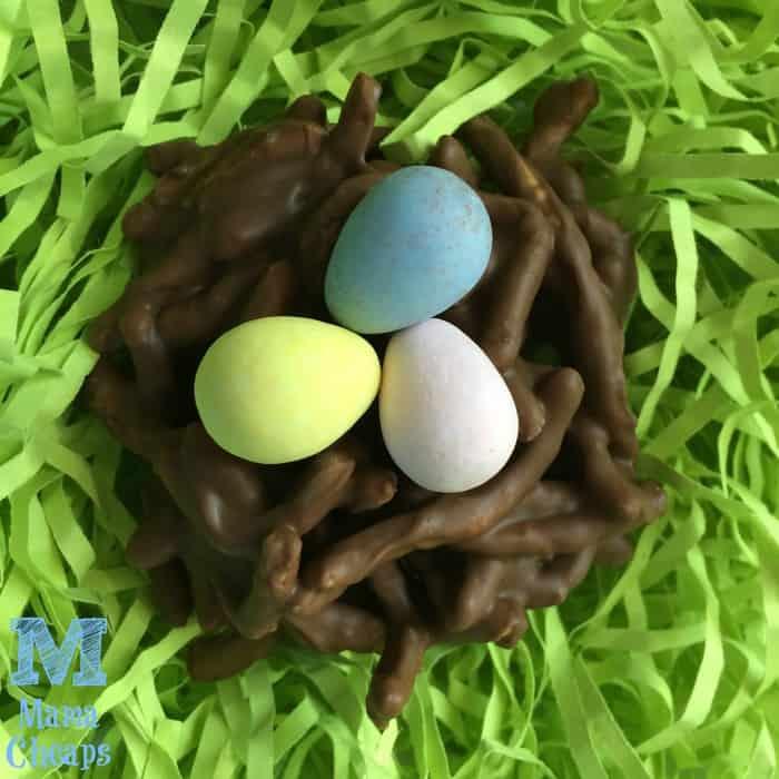 chocolate bird nest close up