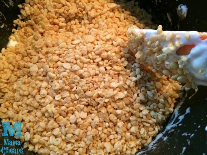 crispy rice treats adding rice krispies