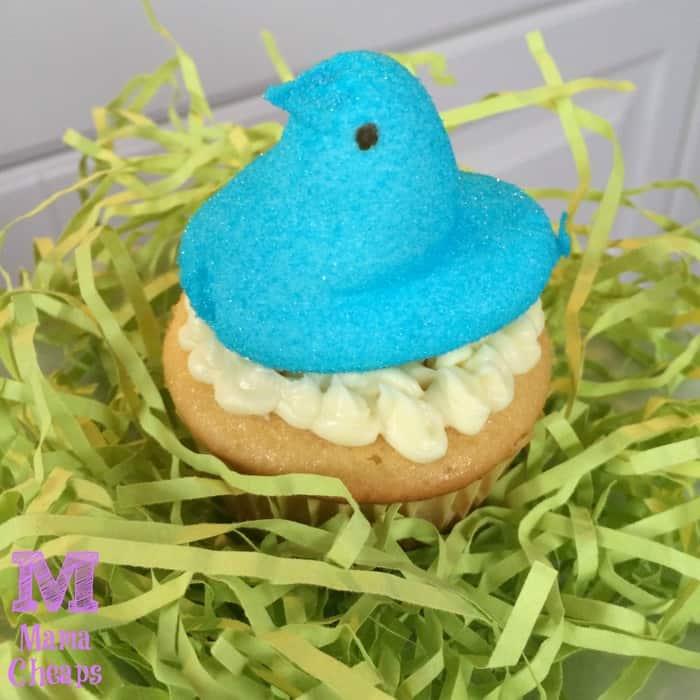 peep on cupcake
