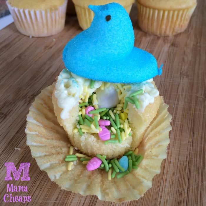 peep surprise cupcake