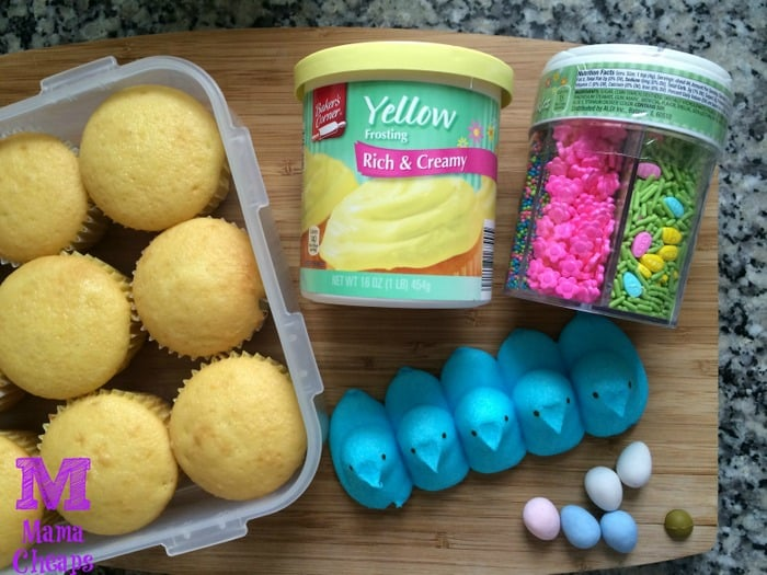 peeps egg surprise cupcake ingredients