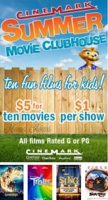 Cinemark Summer Kids Movies