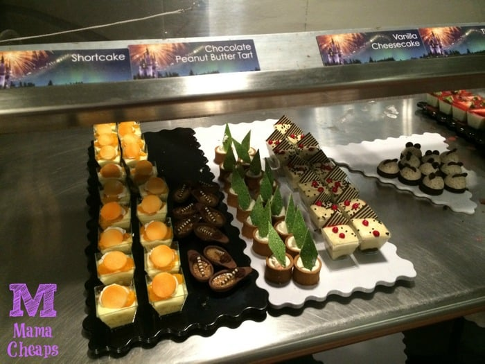 Tomorrowland Terrace Fireworks Dessert Party cakes