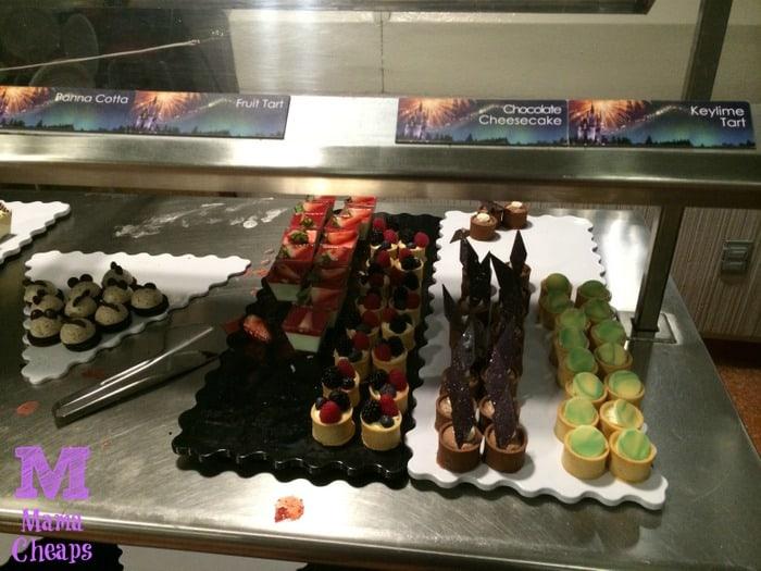 Tomorrowland Terrace Fireworks Dessert Party tarts