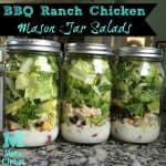 bbq ranch chicken mason jar salads