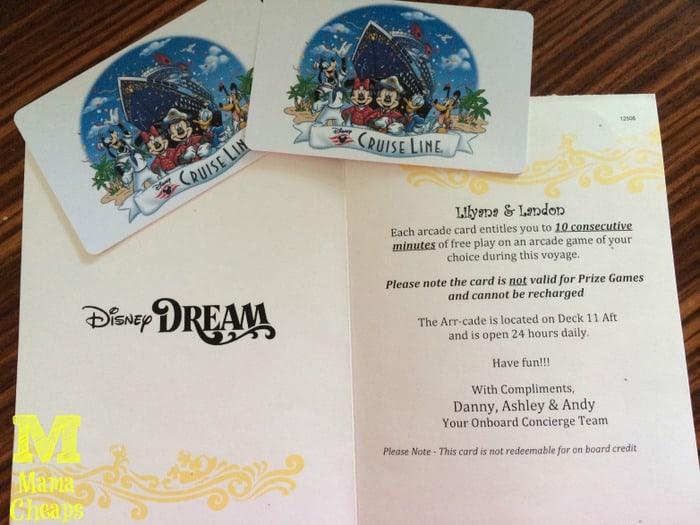 disney cruise arcade card