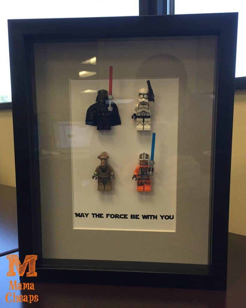 star wars lego shadow box