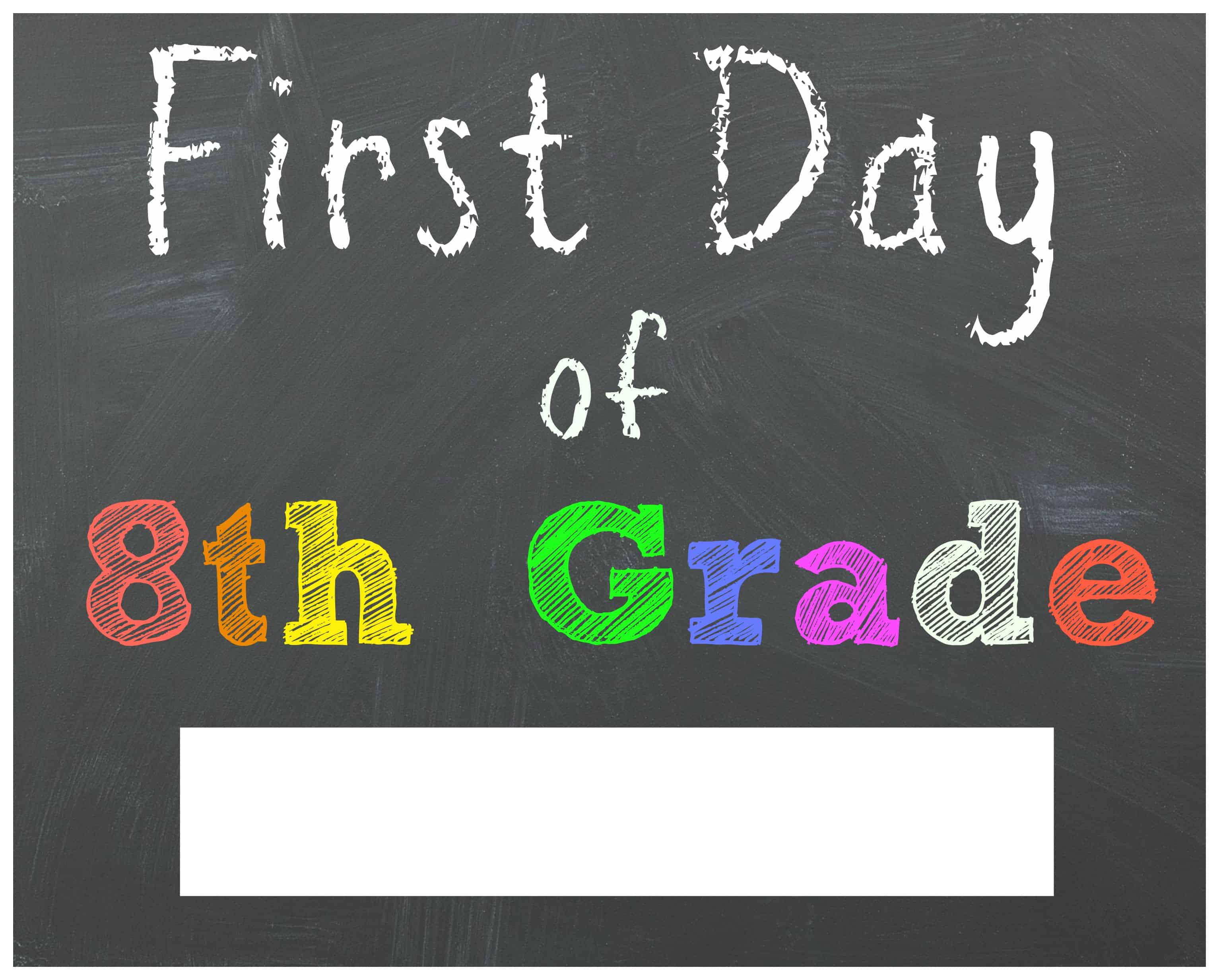 FREE Back to School Printable Chalkboard Signs for First ...