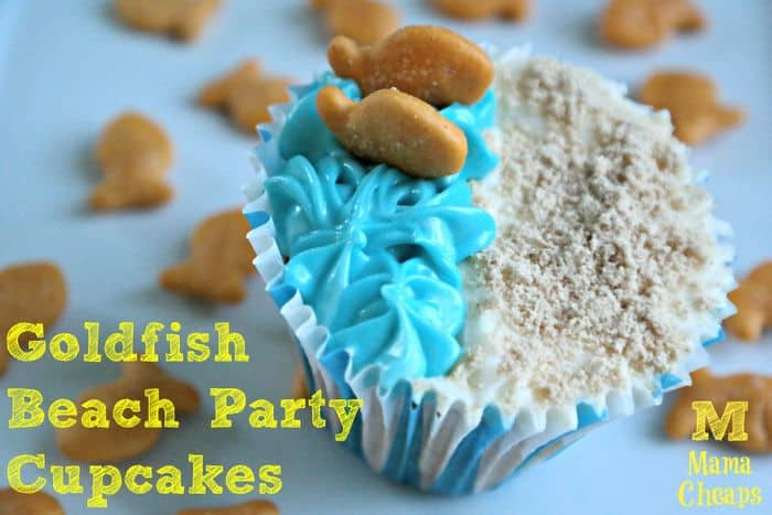 Goldfish Beach Party Cupcakes 1