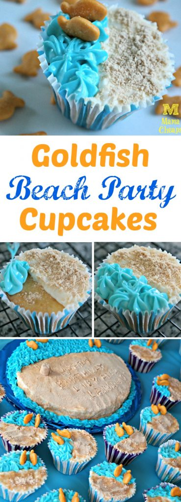 Goldfish Beach Party Cupcakes