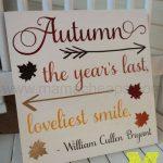 diy autumn fall sign