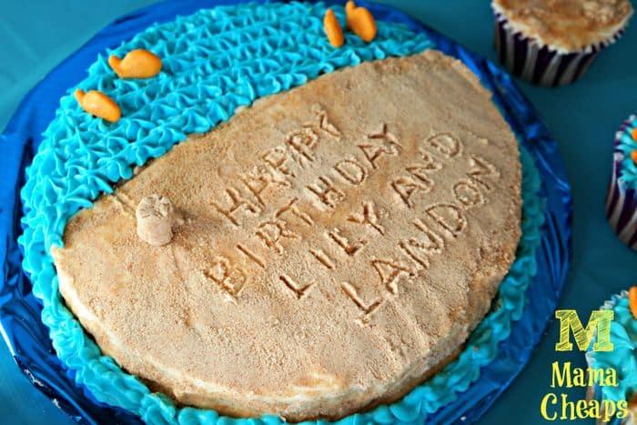beach party goldfish cake