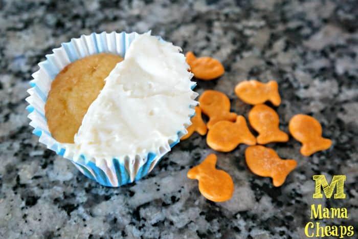 cupcake icing goldfish