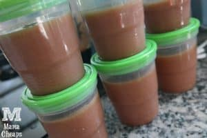 applesauce freezer containers