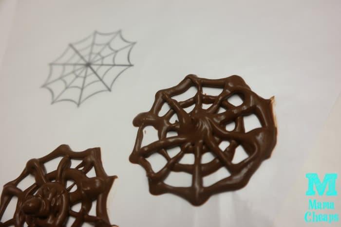 chocolate spiderwebs