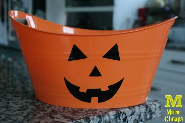 orange pmpkin bucket