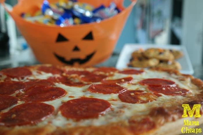 halloween tombstone pizza