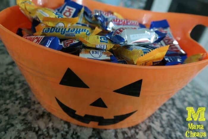 pumpkin halloween treat bucket