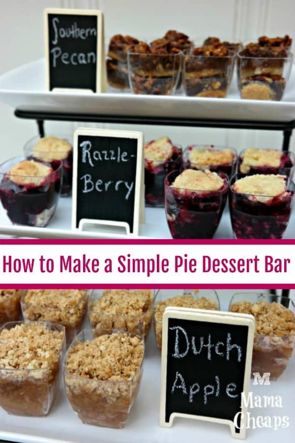 How to Make a Simple Pie Dessert Bar