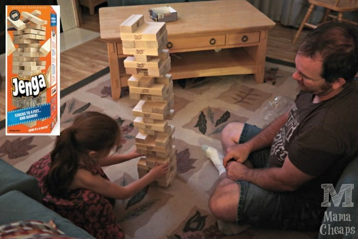 Playing Jenga GIANT