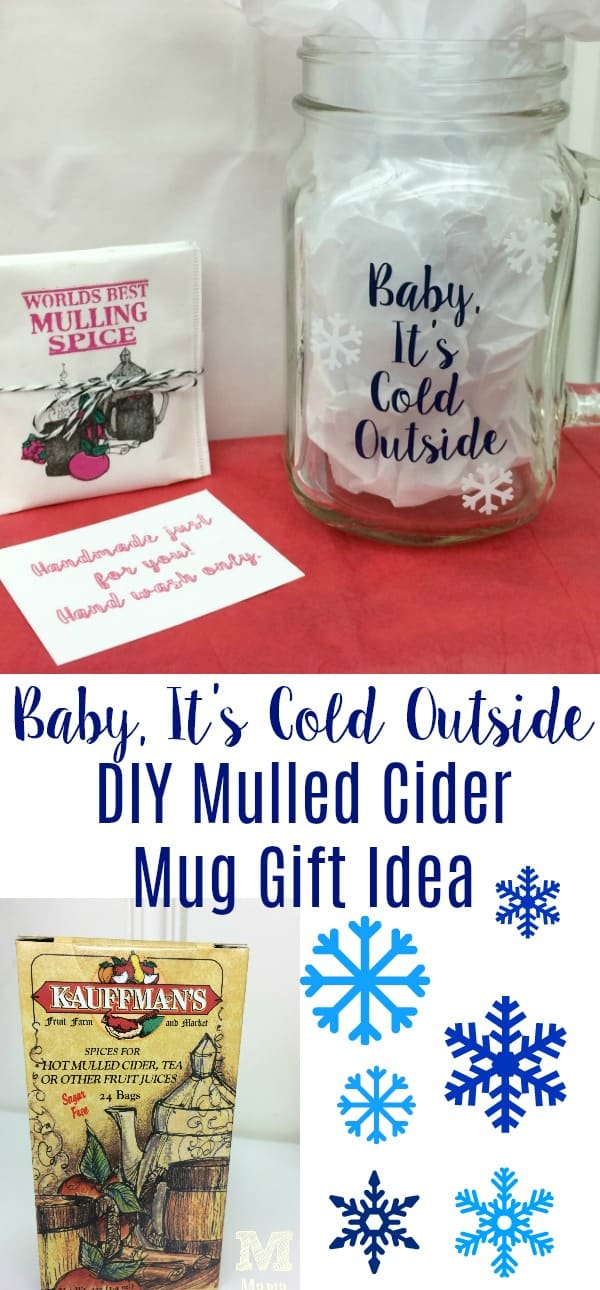 Baby, It's Cold Outside DIY Mulled Cider Mug Gift Idea