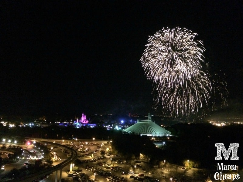fireworks over magic kingdom