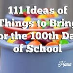 111 Things to Bring for the 100th Day of School