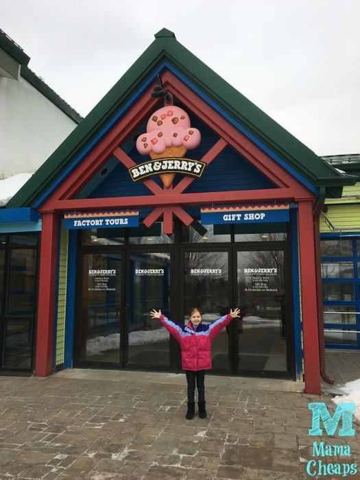 Arriving at Ben and Jerry's Factory