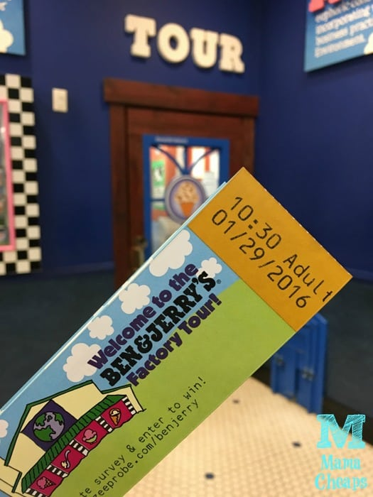 Ben and Jerrys Factory Tour Ticket