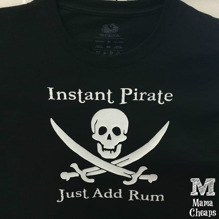 Instant Pirate Just Add Rum Shirt Silhouette Project