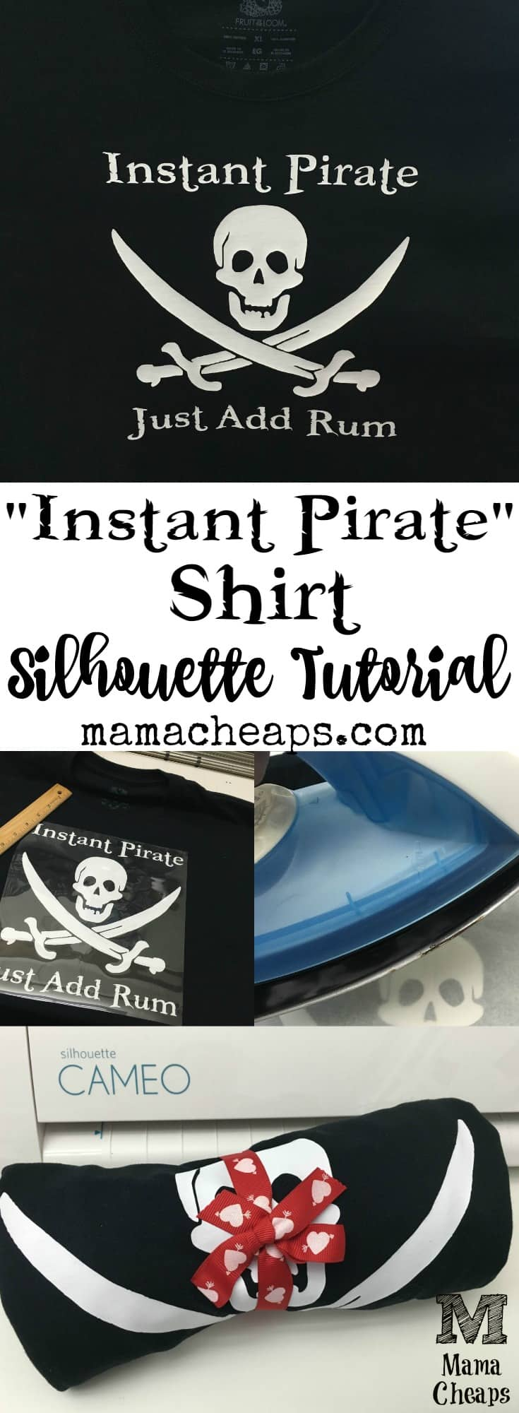 Instant Pirate Just Add Rum Shirt Tutorial