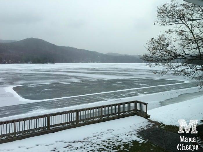 Lake Morey Frozen