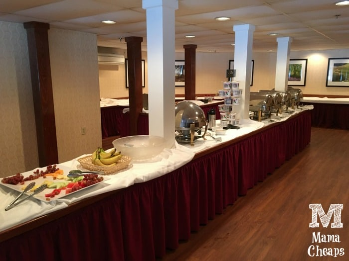 Lake Morey Resort Breakfast Buffet