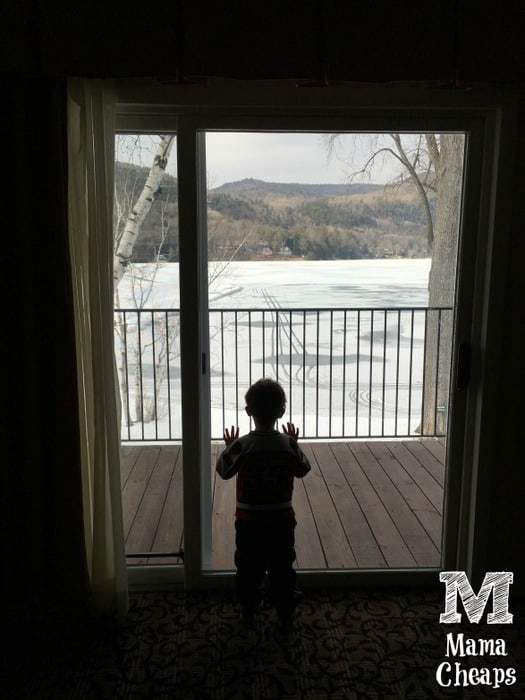 Landon Looking at Lake Morey