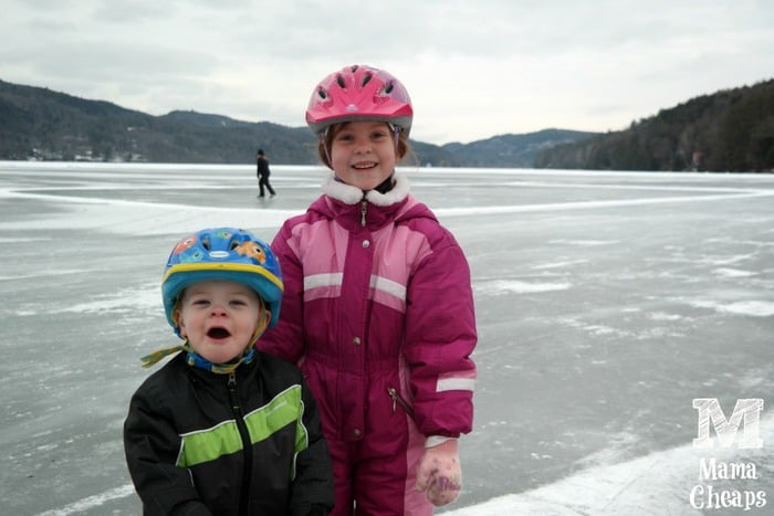 Lily and Landon on Lake Morey 1
