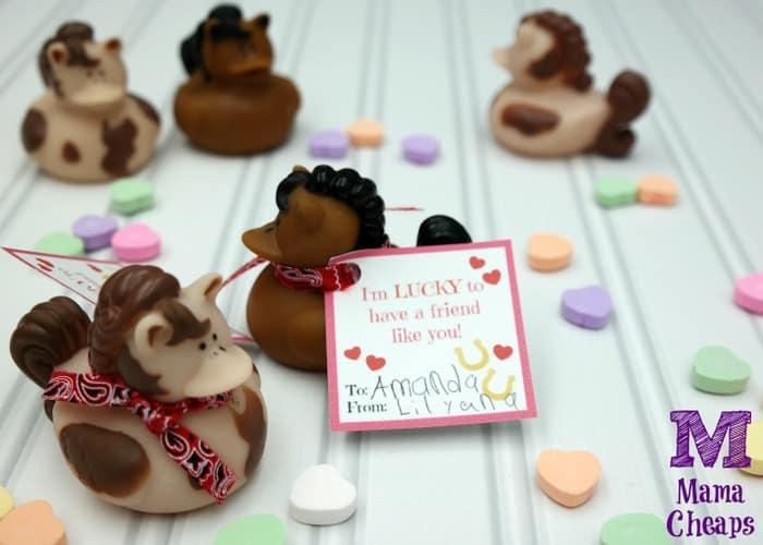 Rubber Duck Horses Valentine