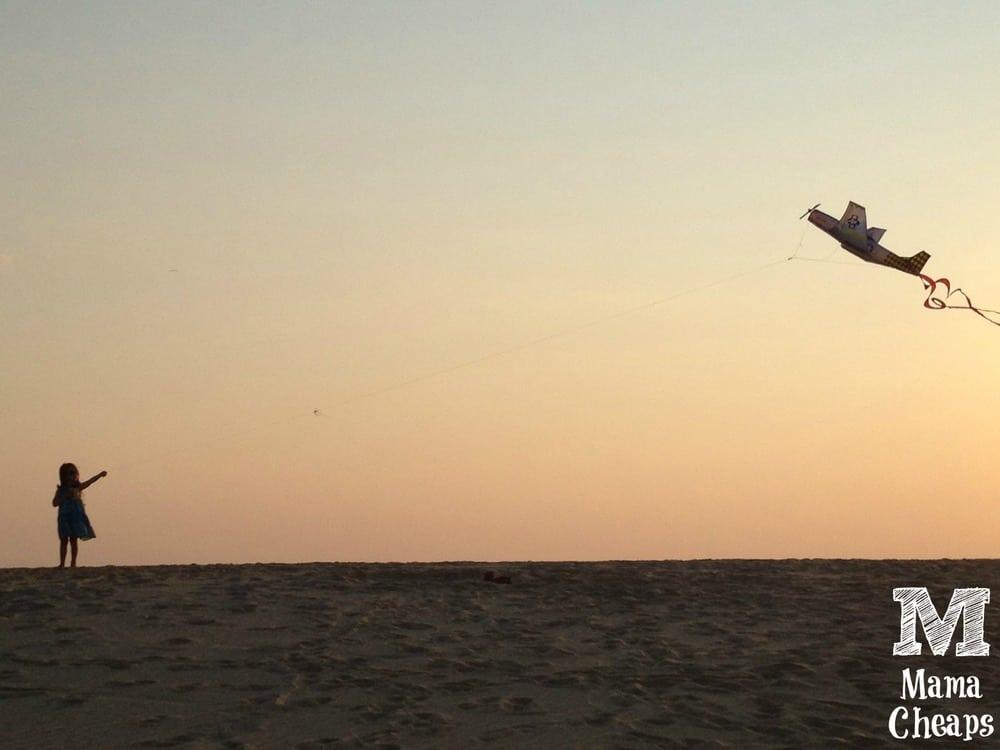 Flying a Kite Jockeys Ridge Outer Banks