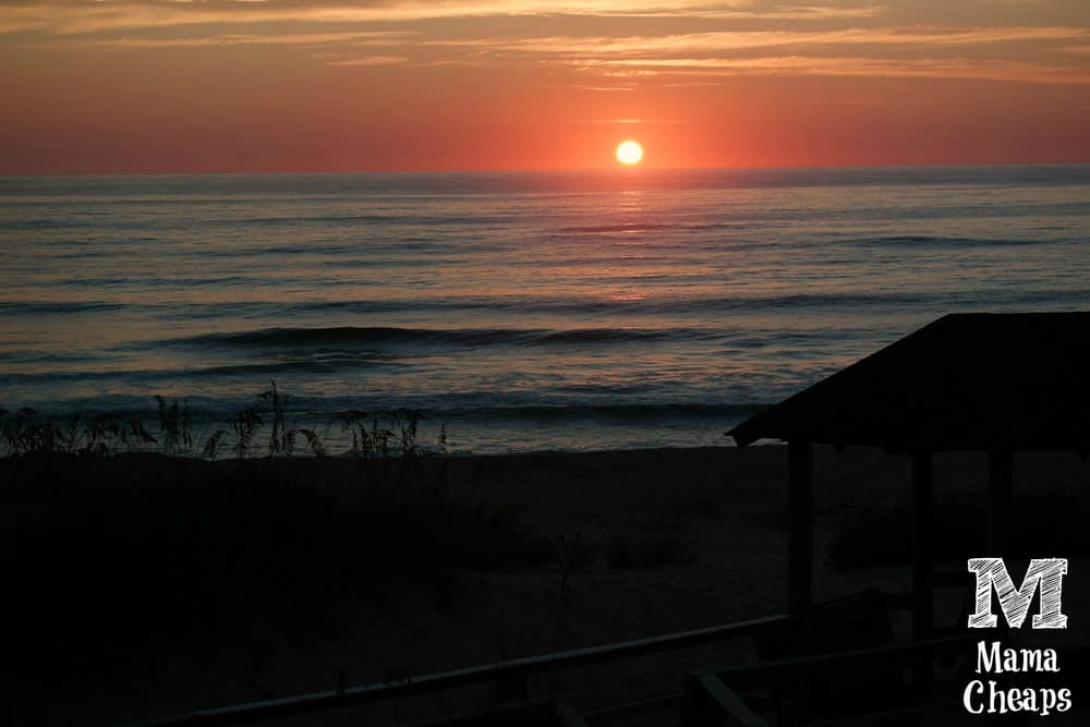 Sunrise Nags Head Beach Outer Banks