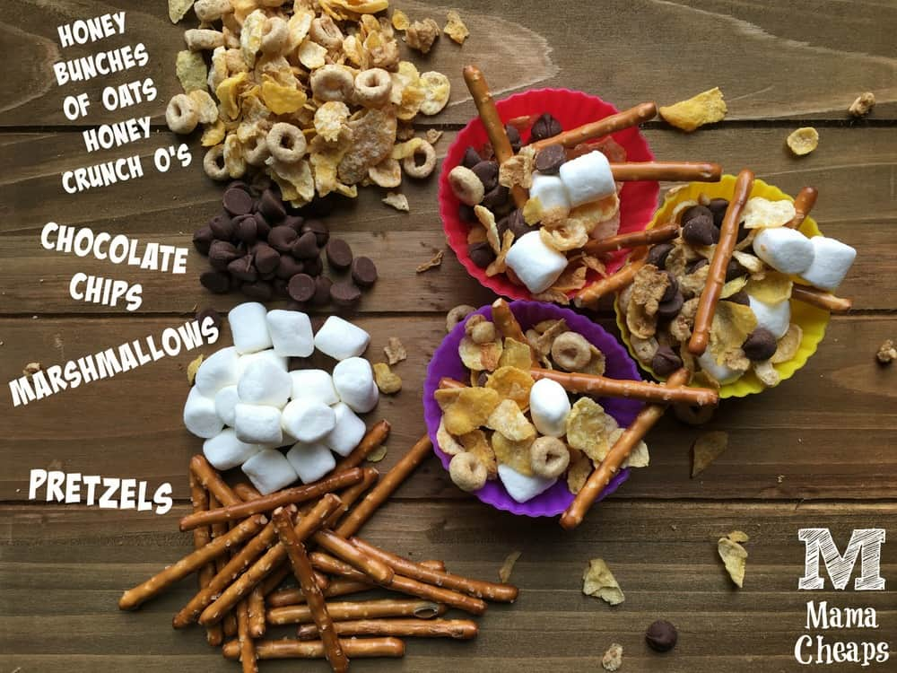 Camping Trail Mix Ingredients