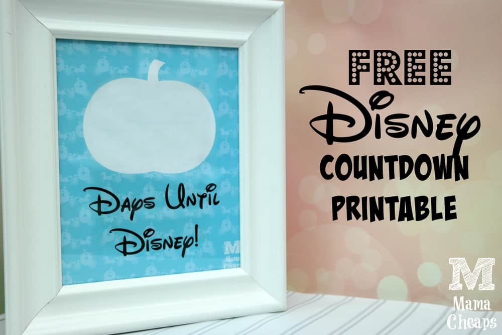 Free Disney Trip Countdown Printable