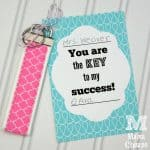 Free Key to Success Teacher Printable SQUARE