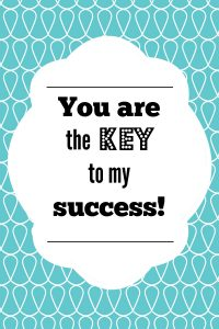 Key to My Success Teacher Printable