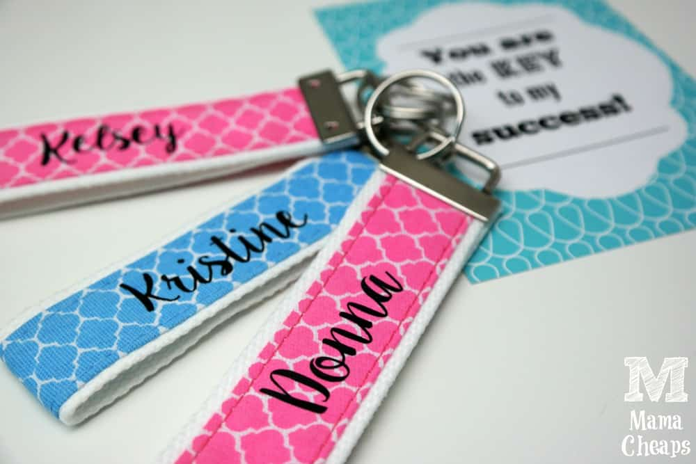 Personalized Keychain Fobs Teacher Gift