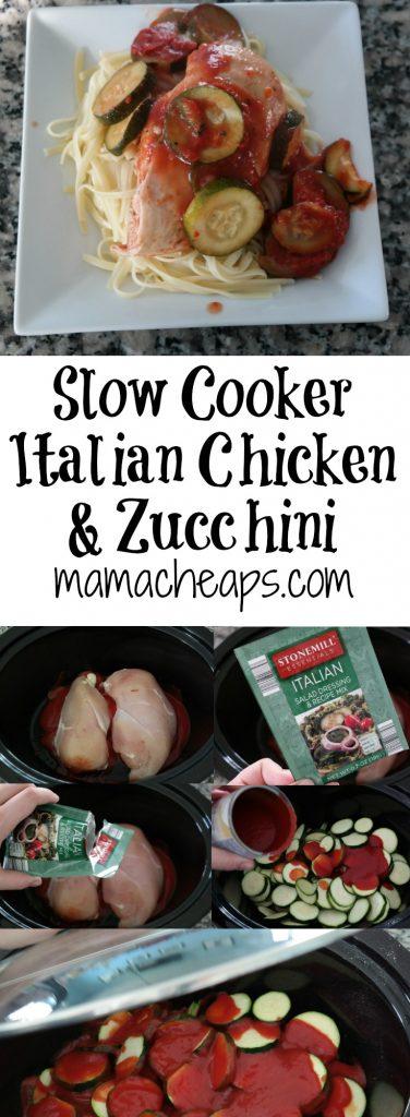 Slow Cooker Italian Chicken and Zucchini Recipe