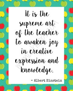 Teacher Einstein Print WM