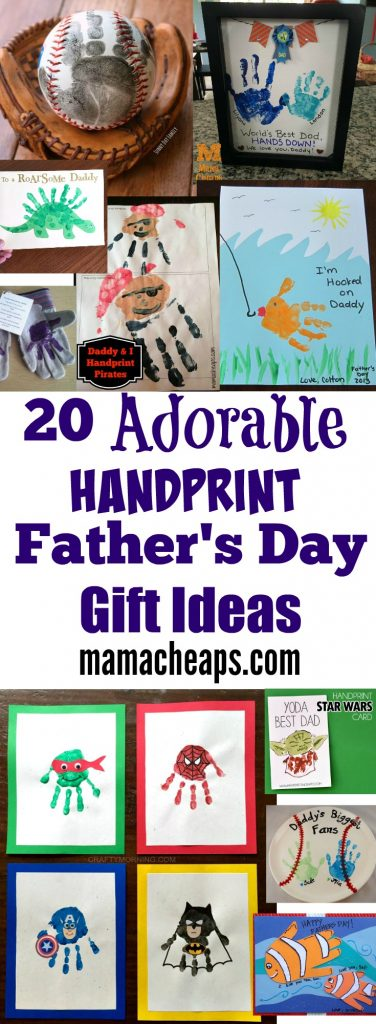 20 Adorable Handprint Father's Day Gift Ideas