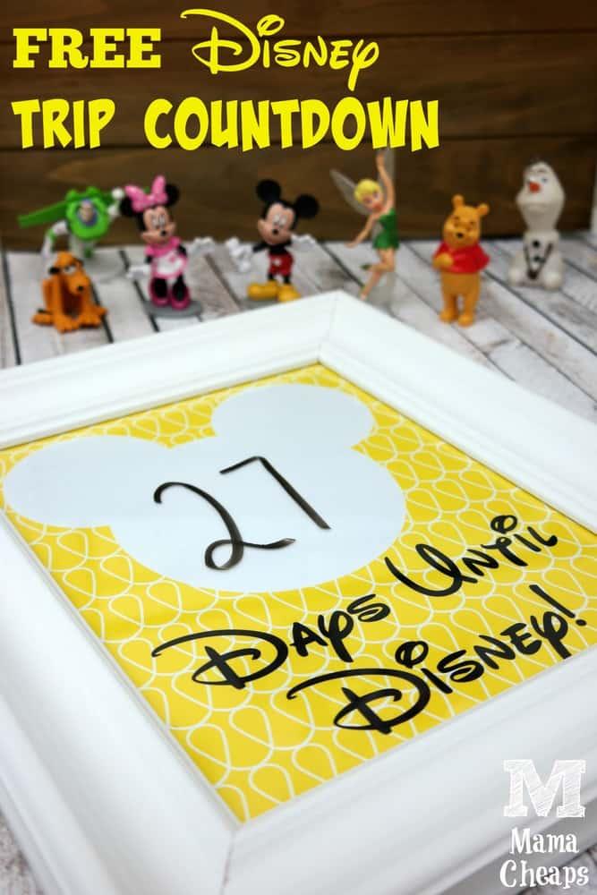 Mickey Inspired Disney Trip Countdown Free Printable Mama Cheaps